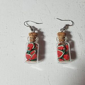 """Watermelon Bottled 1 1/2"""" Earrings"""